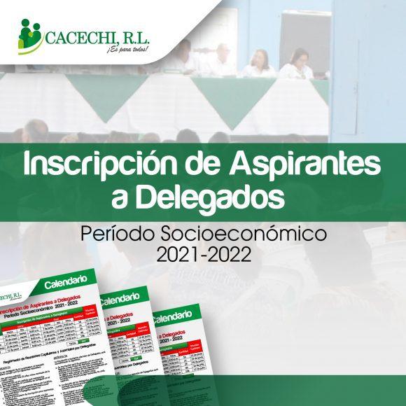 Noticia | Proceso de Inscripción para aspirantes a Delegados – Periodo Socioeconómico 2021-2022